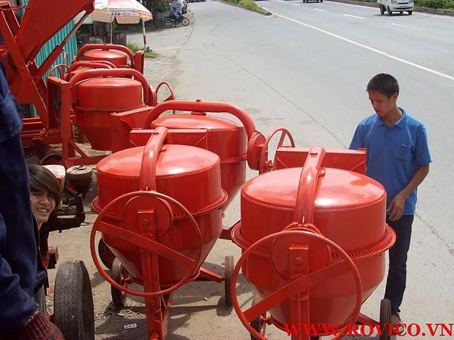 Loại máy trộn bê tông nào thông dụng