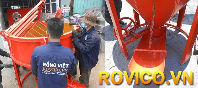 Phễu đổ bê tông giải pháp cấp phối liệu ở vị trí khó tiếp cận
